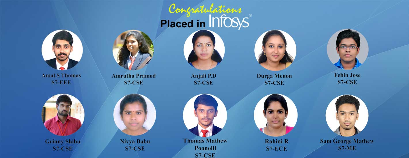 10 of our students got placed in infosys